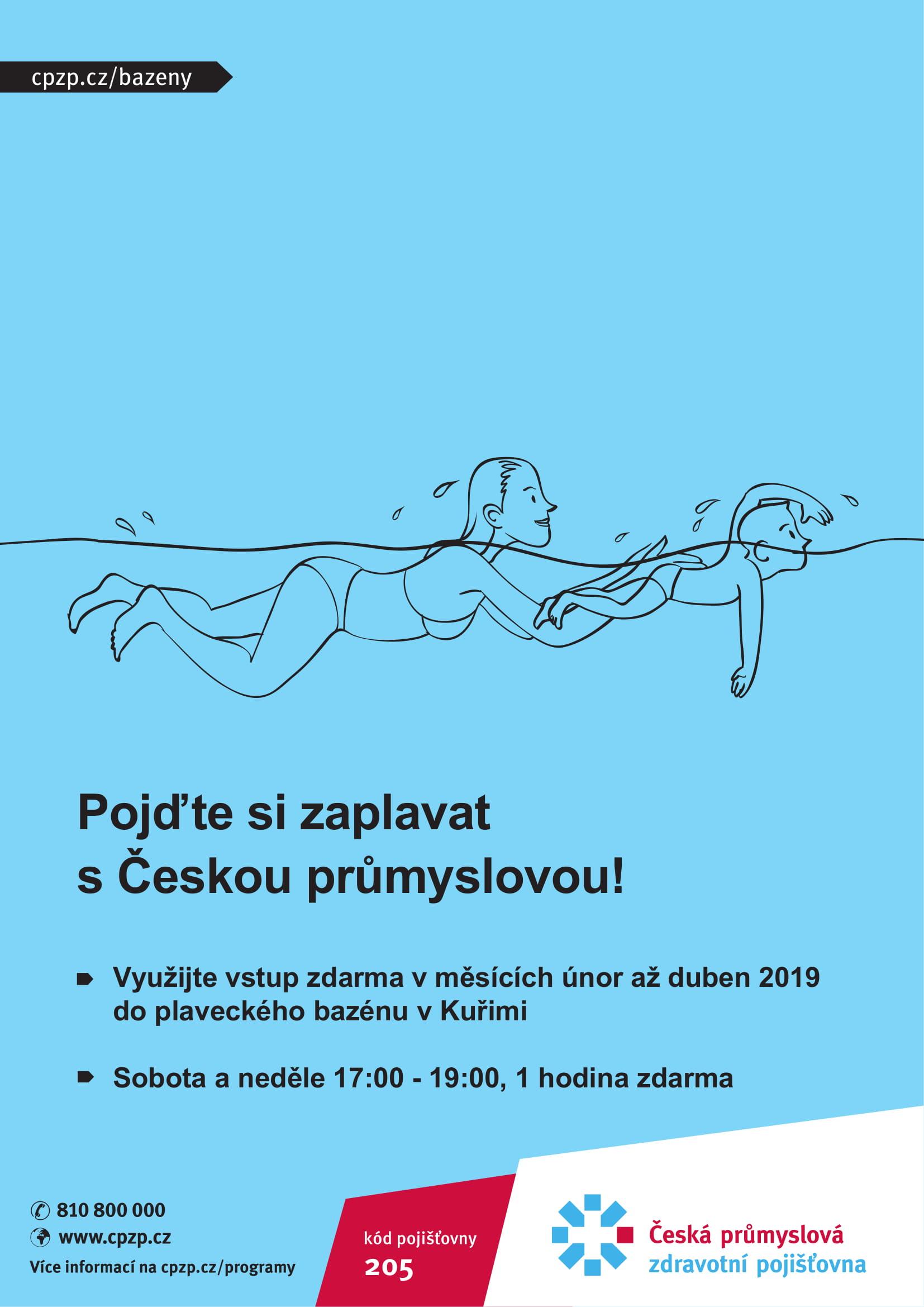 Plavani Pro Pojistence Cpzp Na Hodinku Zdarma Unor Duben 2019